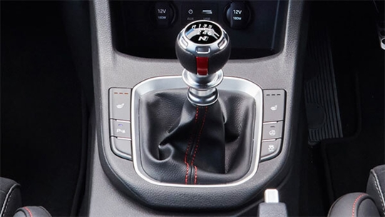 N gear knob.