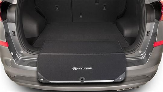 Fabric rear bumper protector.