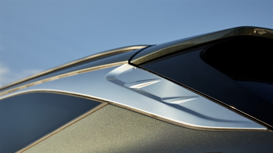 Chrome DLO (Day Light Opening) moulding.