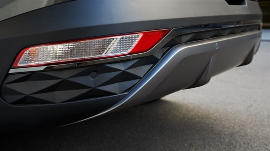 Parametric-patterned rear bumper.