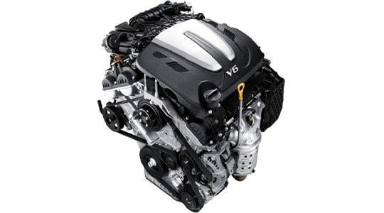3.5 MPi petrol V6 2WD engine.