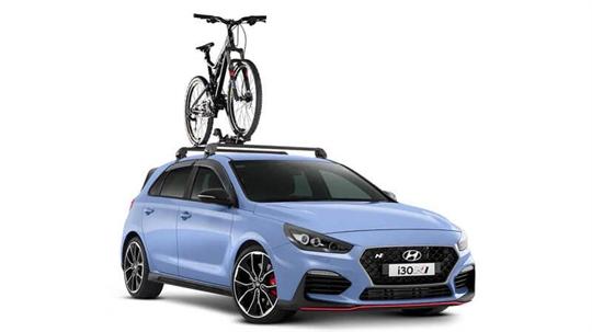 Bike carrier-wheel on.