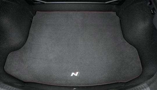Hatchback carpet cargo mat.