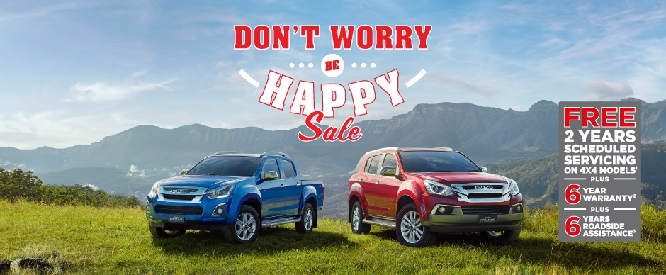 Don't Worry Be Happy Sale from Mackay Isuzu UTE