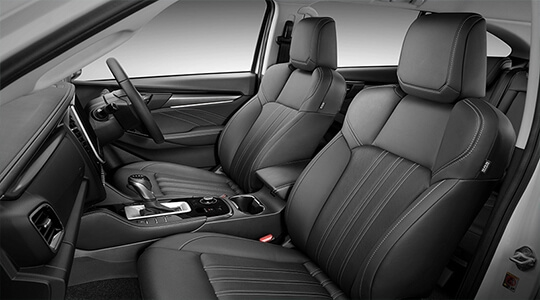 7-seat leather accented interior
