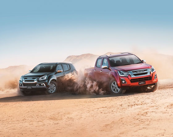 The Isuzu D-MAX and M-UX
