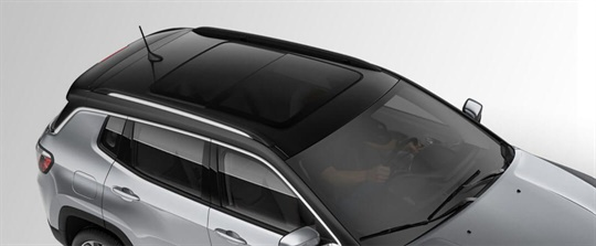Dual-Pane Panoramic Sunroof - Closed
