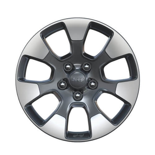 18-Inch Tech Gray Polished Face Wheels