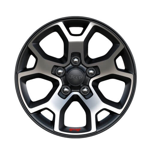 17-Inch Polished Wheels with Black Pockets