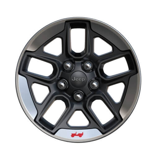 17-Inch Black Wheels with Polished Lip