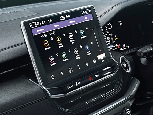 25.6 cm (10.1) Uconnect™ Infotainment System with Apple CarPlay and Android Auto