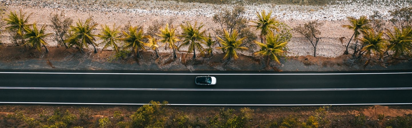 Jeep Compass Aerial Shot