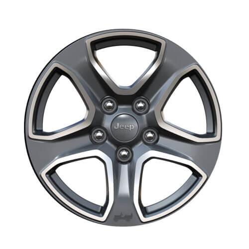 17-Inch Polished Granite Crystal Wheels