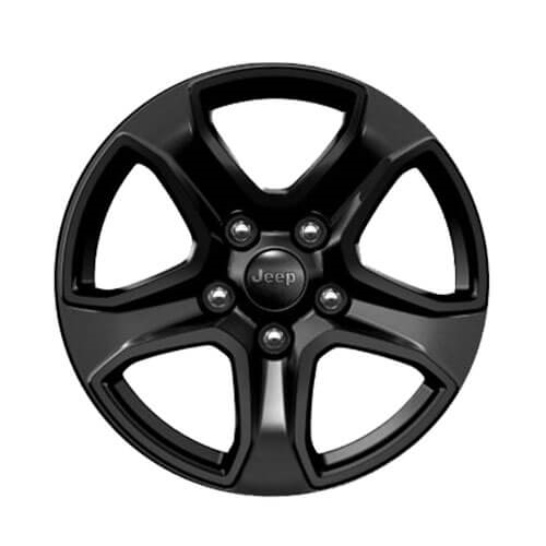 17-Inch Painted Black Alloy Wheels