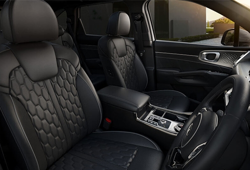 Quilted Nappa leather appointed seats