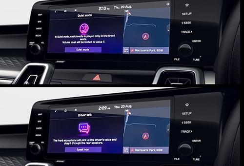 Quiet mode & driver intercom