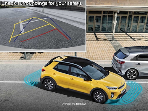 Rear view camera & rear parking sensors*