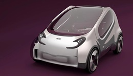 POP (KED-7) - The POP is an electric concept causing no emissions that represents Kia's vision for the urban transportation of the future. Unconventional features of the POP include the striking side-window design and the high-tech feel of the dot-pa