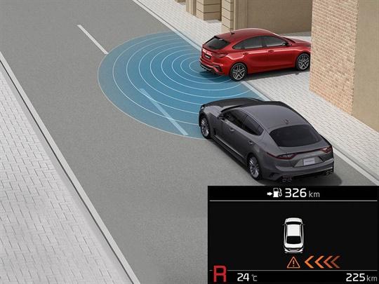 Rear Cross Traffic Alert (RCTA)<sup>[S]</sup>
