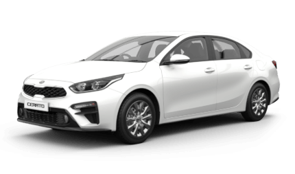 All New Cerato Sedan S Manual Drive Away from<sup>[A]</sup> $19,990 with $777 Bonus*