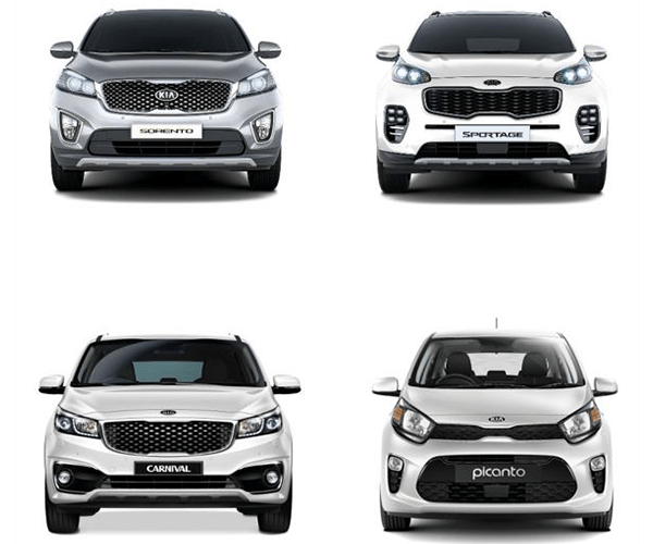 The grille - the unmistakable face of Kia cars