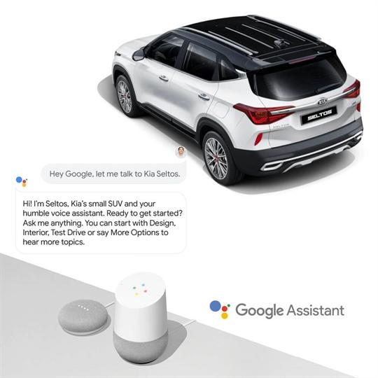 Google Assistance Seltos