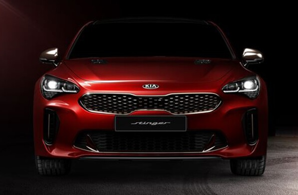 The all new Kia Stinger has a striking tiger nose grille