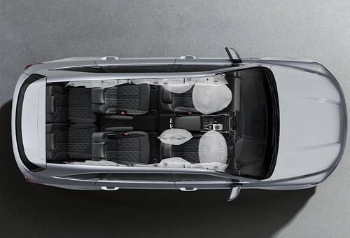 7 Airbags including front centre side