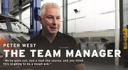 the team manager, Peter West