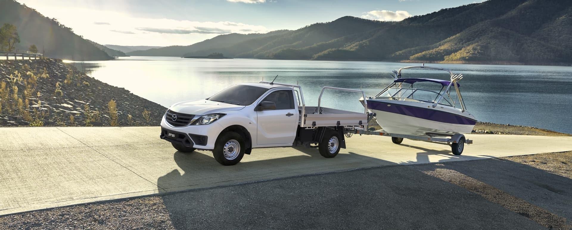 Mazda BT-50 and Boat