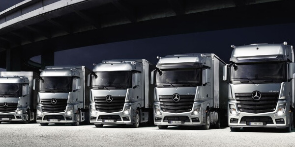 New Trucks from Orange Mercedes Benz Trucks