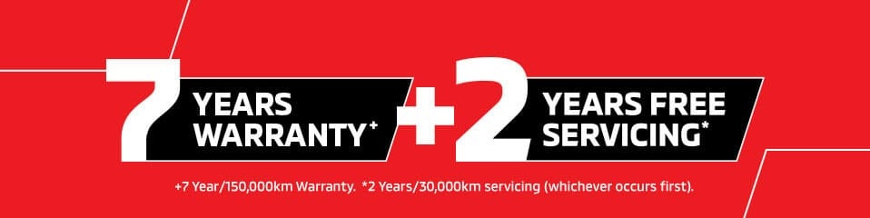 7 Years Warranty + 2 Years Free Servicing Banner