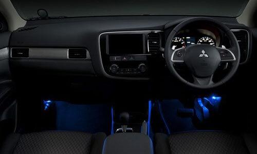 Blue Floor Illumination