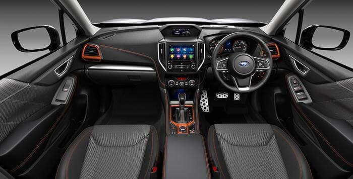 MY21 Subaru Forester 2.5i Sport Interior Front Cabin (overseas model shown)