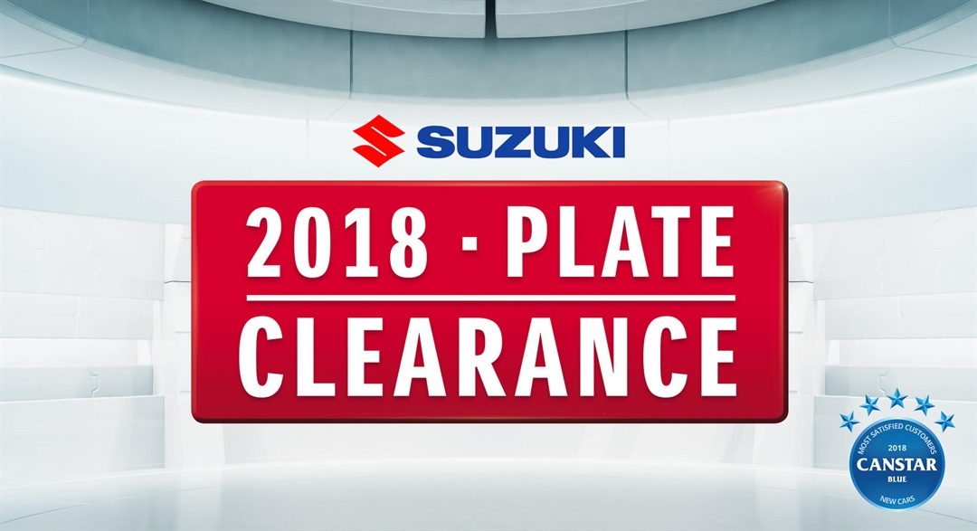 2018 Plate Clearance Offers At Grafton Suzuki