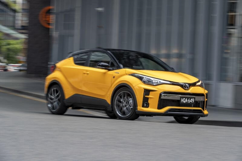 Toyota has released its first GR Sport conversion, based on the stylish C-HR (two-tone option pictured)