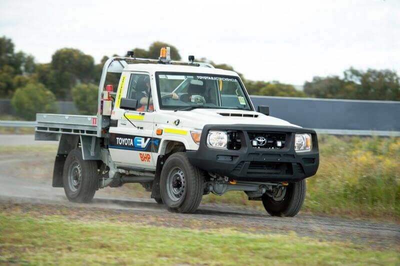 Toyota has partnered with BHP to trial a battery electric (BEV) LandCruiser 70 Series at a WA mine site