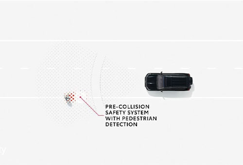 Pre-Collision Safety System with Pedestrian Detection