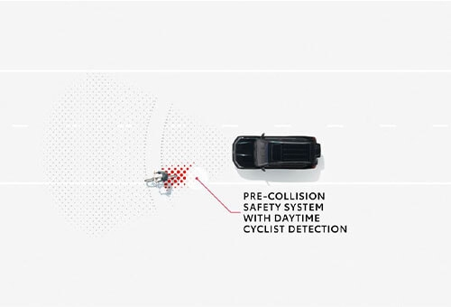 Pre-Collision Safety System with Daytime Cyclist Detection