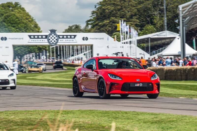 The all-new GR 86 had its global dynamic debut at the Goodwood Festival of Speed in the UK earlier this month (overseas pre-production model shown)
