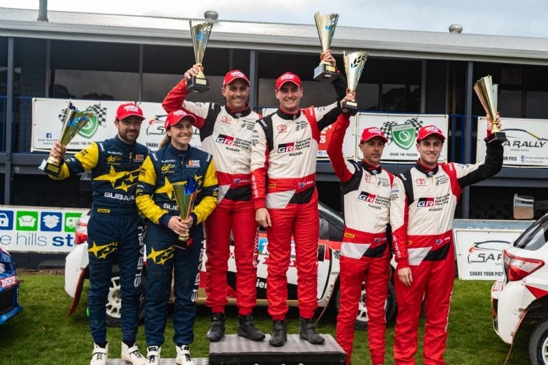 Toyota clinched the Australian Rally Championship (ARC) for manufacturers with Harry Bates and brother Lewis coming first and second in the driver standings.