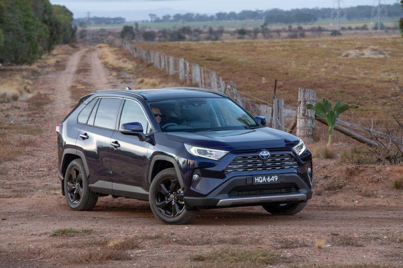Australia's best-selling vehicle - the hybrid RAV4 (Cruiser grade shown)