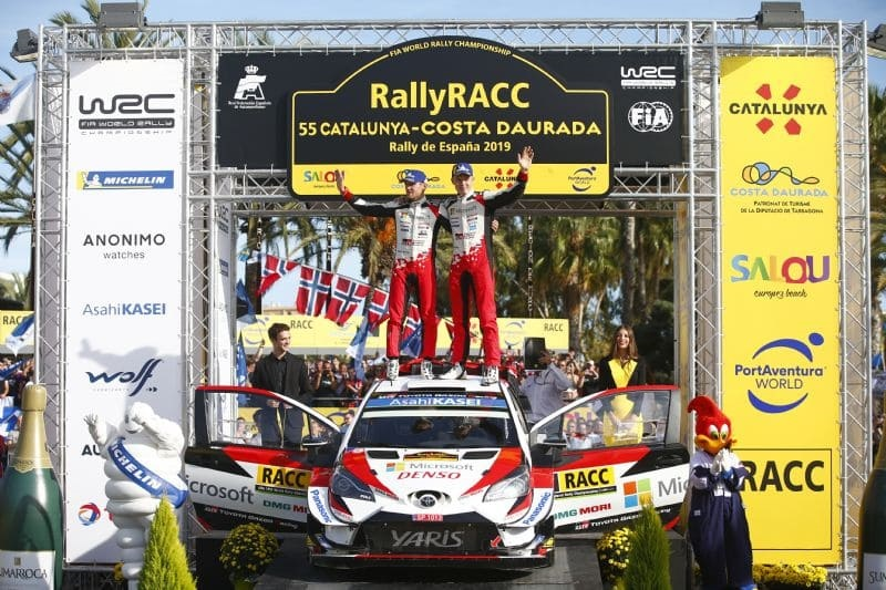 TOYOTA GAZOO Racing World Rally Team driver Ott Tänak(r) and co-driver Martin Järveoja have givenToyota its first WRC drivers' championship title in 25 years.