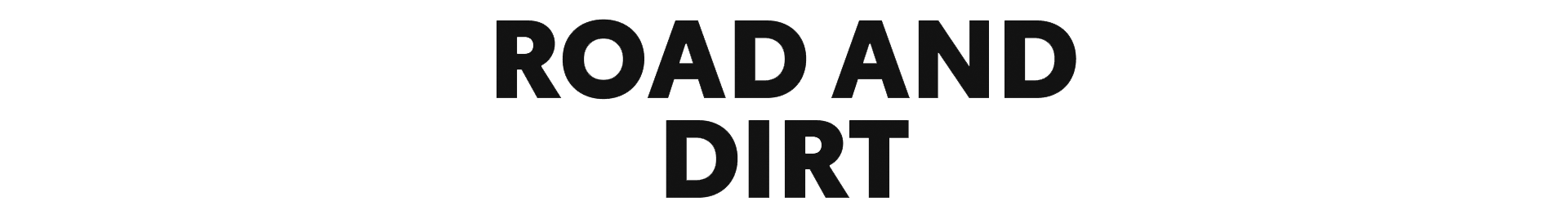 Road and Dirt