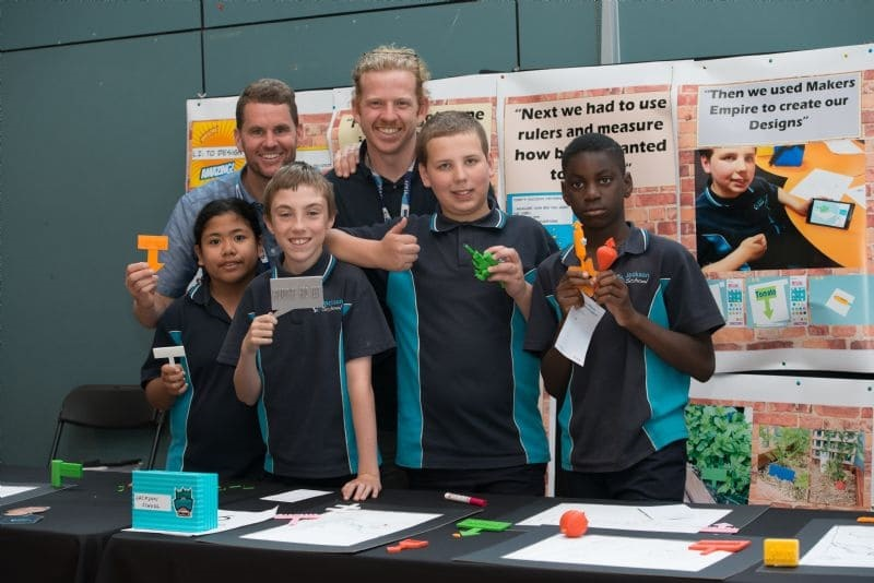 Students from primary schools in Melbourne's west undertook Makers Empire's 3D Printing in Schools project facilitated by a $60,000 grant from the Toyota Community Trust