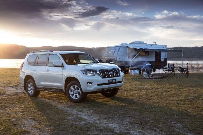Toyota has further upgraded its popular LandCruiser Prado with additional safety features and styling enhancements (GXL shown)