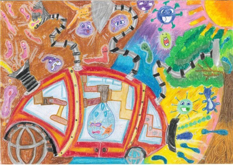 Jerricho Wong's Germ Buster won the 2019 Toyota Dream Car Art Contest