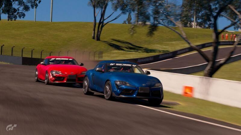 Harry and Lewis Bates in practice at Bathurst in a bid to try and top the Australian GR Supra GT Cup leaderboard launching after this weekend's race at Le Mans