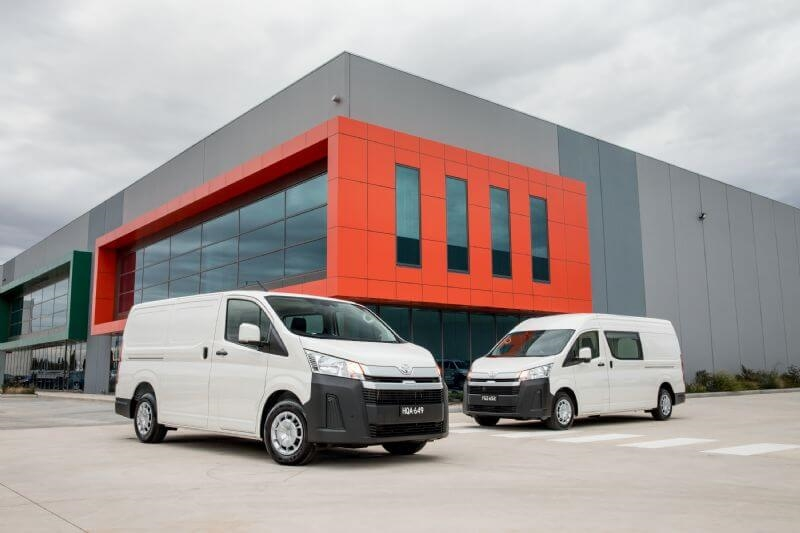 Toyota announces HiAce upgrades, effective 2 September (pre-upgrade image shown).