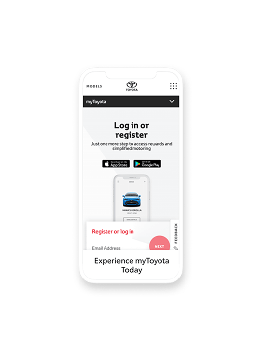 Register with myToyota